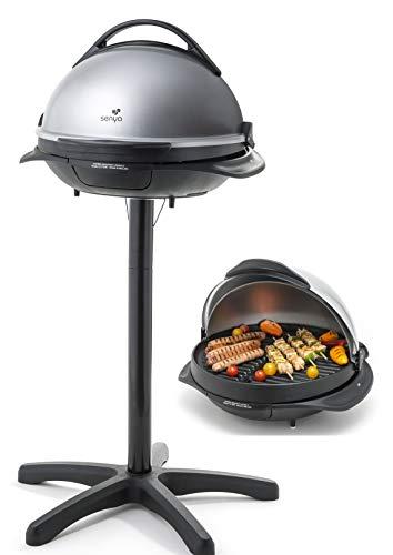 Senya SYCK-G043 Barbecue électrique 2 en 1 sur Pied et sur Table Easy Grill, Gris