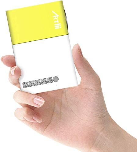 Product Image 1: Mini Proiettore Portatile – Artlii Pocket Videoproiettore da Esterno, Perfetto per I Regali dei Bambini, Android, iPhone, PC, con AV / VGA / USB / HDMI
