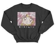 Blusa moletom gola redonda casaco anime sailor moon love? (preto, gg)