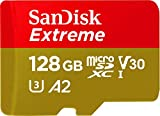 SanDisk 128GB Extreme microSDXC UHS-I Memory Card with Adapter - C10, U3, V30, 4K, A2, Micro SD -...