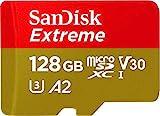 SanDisk Extreme - Tarjeta de memoria microSDXC de 128GB con adaptador SD, A2, hasta 160MB/s,...
