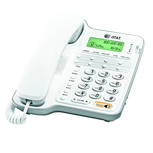AT&T CL2909 Corded Phone with Speakerphone and Caller...
