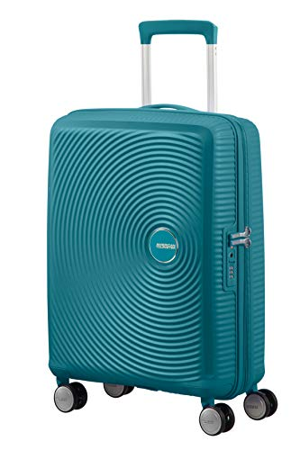American Tourister Soundbox Spinner Small Expandable Bagaglio A Mano,Verde (Jade Green), Spinner S...