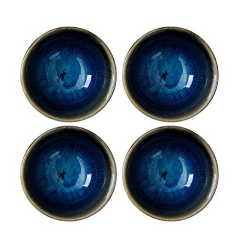 Amosfun sake cups cerâmica estilo japonês requintada copos de saquê copo de vinho tigela para água chá café sake suprimentos 4 peças