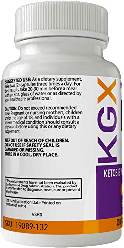 KGX Keto Pills 800 Advanced Energy Ketones with Go BHB Capsules Ketones Ketogenic Supplement for Weight Loss Pills 60 Capsules 800 MG GO BHB Salts 3