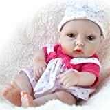 HiPlay 11' Reborn Baby Doll- Lifelike Realistic Design with Great Details-Cute Handmade Soft...