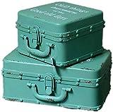 LHSUNTA Cajas de Almacenamiento de Madera Caja de hojalata Retro Hierro Antiguo Antiguo Exhibición Vintage Disparos Accesorios de fotografía Organizador de Joyas Caja Decorativa (Color: Ve