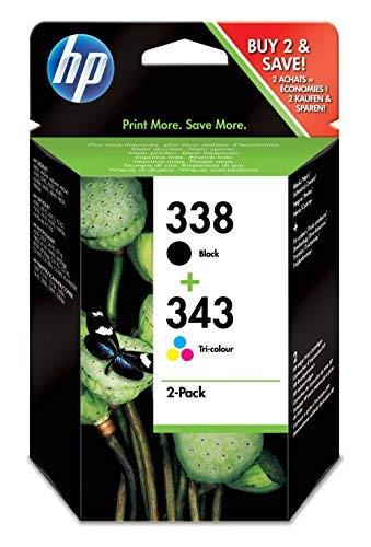 HP 338-343 ComboPack SD449EE Confezione da 2 Cartucce Originali per Stampanti a Getto di Inchiostro...