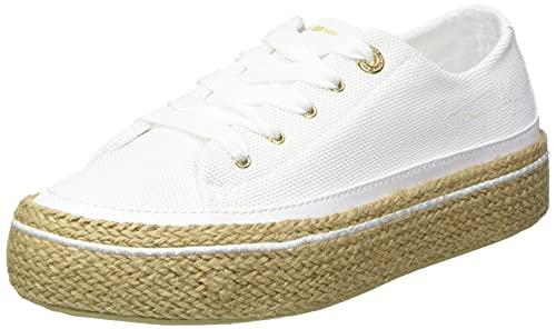 Tommy Hilfiger White Sunset Vulc Sneaker, Zapatillas Mujer, Blanco, 36 EU