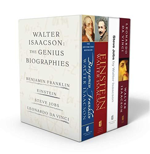 Walter Isaacson: The Genius Biographies: Benjamin Franklin, Einstein, Steve Jobs, and Leonardo da Vinci