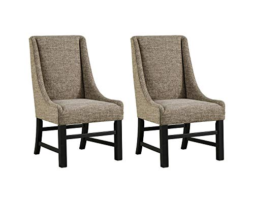 Signature Design by Ashley Sommerford Dining, Upholstered, Tan Arm Chair