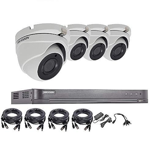 Hikvision 5MP 4K CCTV Sistema de seguridad DVR 4 CH 1TB H.265 + Hik 5MP 2.8mm Kit de cámara de visión nocturna para exteriores Vendedor del Reino Unido ds-7204huhi-k1 ds-2ce56h1t-itm