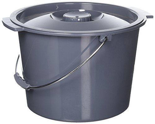 Replacement Commode bucket with Lid, 12 qt. / 2 gallon