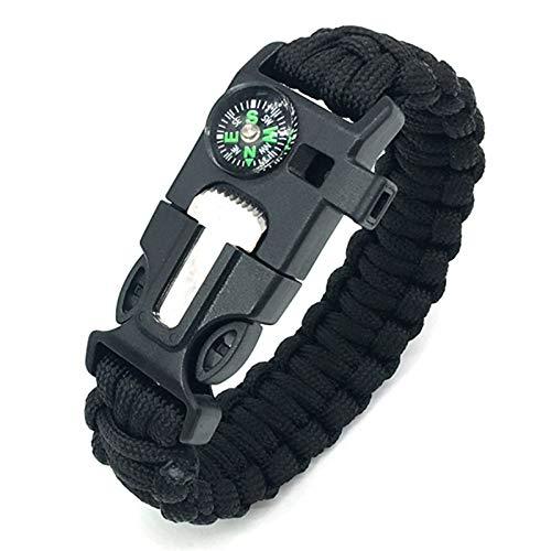 Bracelet de survie en plein air, kit de survie multifonction avec silex...