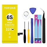YOFONE Battery Replacement Compatible with iPhone 6s,2250mAh High Capacity 0 Cycle,with Complete Repair Tool Kit Adhesive and Instructions [18 Month Warranty]