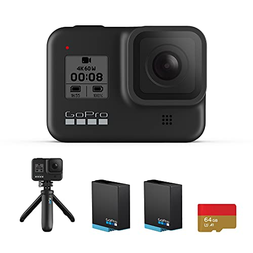 【国内正規品】GoPro HERO8 Black ゴープロ ヒーロー8 ブラック ウェアラブル アクションカメ ラウェアラブル( GoPro HERO8 Black +64GB認定SDカード+自撮り棒/三脚 )