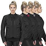 Viking Cycle Ironborn Armored Motorcycle Textile Riding Biker Jacket for Women