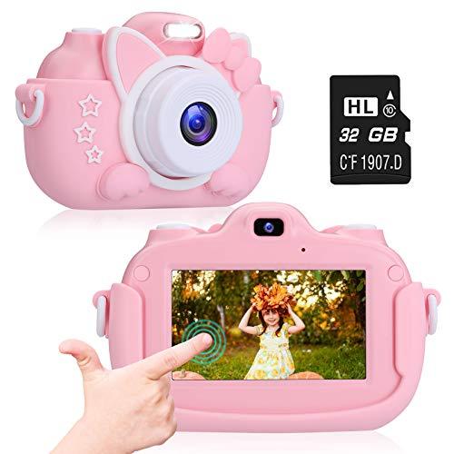 ACTION Macchina Fotografica per Bambini, Bambini Fotocamera Digitale Touch Screen IPS da 3,0 Pollici...