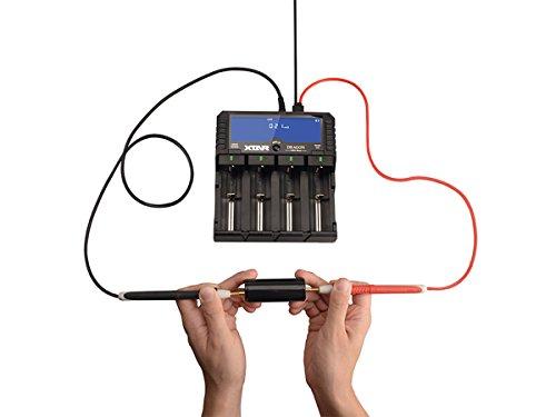 XTAR DRAGON VP4 Plus Caricabatterie/Tester a 4 Canali Batterie Litio-Ion e Ni-MH