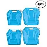 Tebery Poche Sac à Eau, 2*10L+2*5L Sac d'eau Pliable 4 pièce Eau Potable Conteneur pour le Sport...
