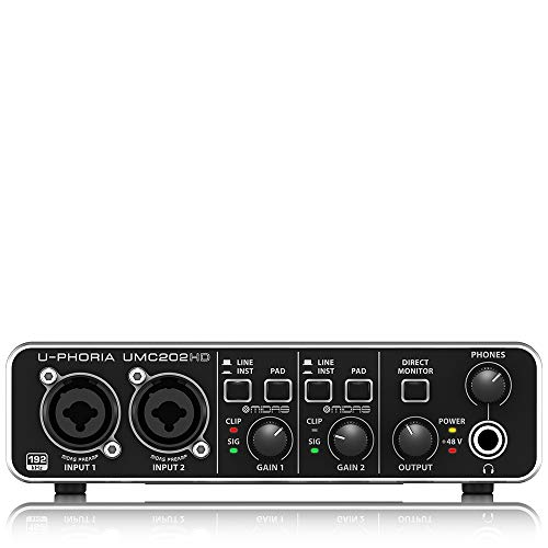 ベリンガー 2入力2出力 USBオーディオインターフェース UMC202HD U-PHORIA