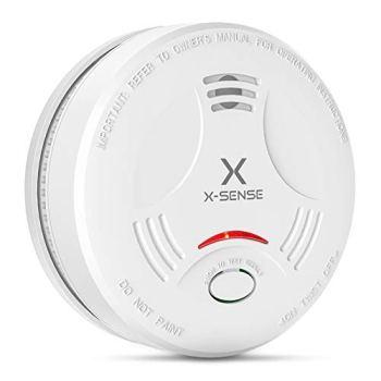 X-Sense Détecteur de Fumée, Certifié VDS & TÜV Selon EN14604, Détecteur de Fumée avec 10 Ans de Durée de Vie de la Pile, Alarme Incendie Intelligente, Capteur Photoélectrique, SD11 (Lot de 1)