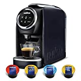 Lavazza Single Serve Espresso Machine, Classy Mini Coffee Maker with BLUE Capsules Variety 100-Pack - Top Class, Gold Collection, Dek (Decaf) and Caffe Crema, Compact for Home and Office Kitchen, Blue