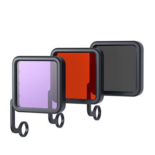 APEMAN Action Cam Filtri, 3 in 1 Rosso/Viola/Grigio Filtri per Lenti Fotocamera Subacquee, Compensazione della Correzione del Colore per Sport Action Camera A79/A80/A87