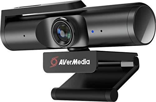 AverMedia Live Streamer CAM 513, Ultraweitwinkel 4K Webcam mit Webcam-Abdeckung, integriertes Mikrofon, Plug & Play für Gaming, Stream, Video Aufruf - PW513