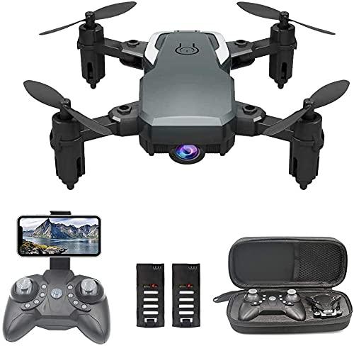 OBEST Drone Mini Fotocamera 1080P,Drone con Telecomando WiFi, Segui la Traiettoria di Volo,modalit Headless, 2 Batterie,Adatto per Bambini e Adulti
