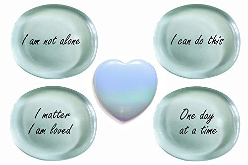 Worry Stones for Anxiety Gifts Thumb Stone for Depression...