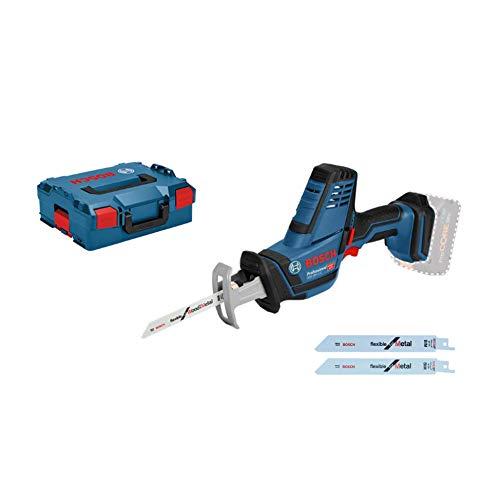 Bosch Professional 06016A5001 18V System Scie Sabre sans-fil GSA 18 V-LI C (Version Compact, 3 Lames de Scie Sabre, sans Batterie/Chargeur, dans L-BOXX), Bleu