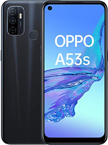 "OPPO A53s 16.5 cm (6.5"") 4 GB 128 GB Dual SIM 4G USB Type-C Black Android 10.0 5000 mAh A53s, 16.5 cm (6.5""), 4 GB, 128 GB, 13 MP, Android 10.0, Black"