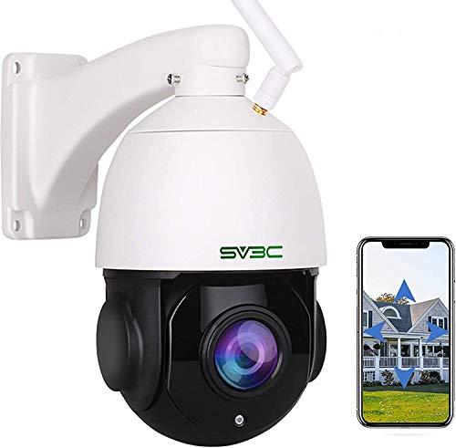 1080p PTZ Telecamera IP Esterno SV3C, Telecamera WiFi Esterno Con ZOOM OTTICO 20X, umanoide Rilevazione Movimento, 60m Visione Notturna, Audio Bidirezionale, IP66 Impermeabile