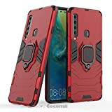 Cocomii Black Panther Ring Galaxy A9 2018/A9 Star Pro/A9s Case, Slim Thin Matte Vertical & Horizontal Kickstand Ring Grip Drop Protection Bumper Cover for Galaxy A9 2018/A9 Star Pro/A9s (Red)
