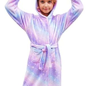 Doctor Unicorn Soft Unicorn Hooded Bathrobe Sleepwear – Unicorn Gifts for Girls