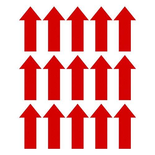 SAVITA 15 pezzi 30 cm Freccia Decalcomanie Marcatura Adesivi Freccia Cartello Direzionale Autoadesivo Rimovibile Per Applicazioni Temporanee Su Pavimento e Parete (Rosso)