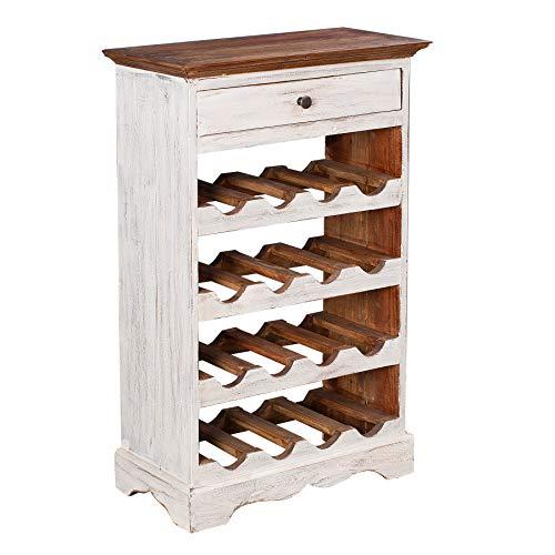 Riess Ambiente - Elegante portabottiglie in legno massiccio, stile rustico, stile shabby chic,...