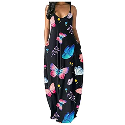 【Fabric Material】: 95% polyester, 5% cotton. Material is lightweight, flowy, soft and stretchy. casual dresses for women is made from a lightweight and skin-touch, good stretchy soft fabric. double-layers on the top part, not-see through. 【Suitable O...