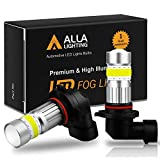 Alla Lighting H10 9145 LED Fog Light Bulb 2800 Lumens Xtreme Super Bright CANBUS COB-72 SMD 9140 9045 9155 LED Bulbs Fog Lights for Cars, Trucks, 6000K Xenon White
