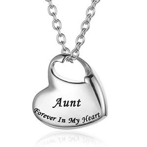 Cremation Urn Necklace for Ashes Urn Jewelry,Forever in My Heart Carved Locket Stainless Steel Keepsake Waterproof Memorial Pendant for mom & dad with Filling Kit