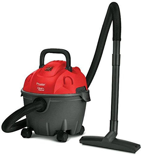 Prestige 1200 Watt Wet and Dry Vacuum Cleaner (Black and Red)