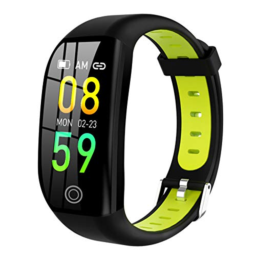 Nesee Fitness Tracker, Bluetooth 4.0 Heart Rate Monitor Bracelet, IP68 Waterproof, Touch Screen, Smart Wristband, Pedometer Sports Activity Tracker Smart Watch for Android and iOS Smartphone (Green)