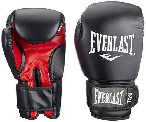 Everlast Rodney 1803 Guanti Boxe da Allenamento Unisex adulto, Nero (Black/ Red), 14 oz