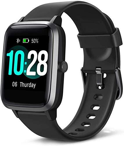 Blackview Montre Connectée Femmes Homme Smartwatch Montre Sport Podomètre Cardiofrequencemètre Etanche 5ATM Natation Running Chronometre GPS Partagé Montre Intelligente pour iPhone Android Téléphone