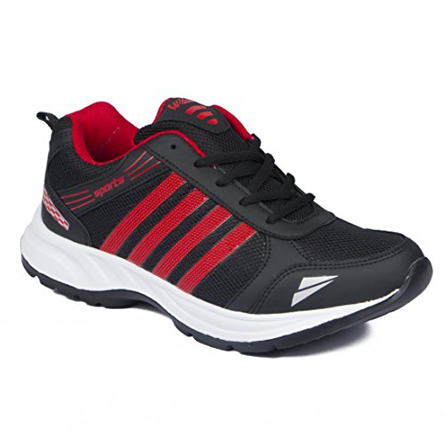 ASIAN Wonder-13 Black Red Running,Sports,Walking Shoes for Men UK-10