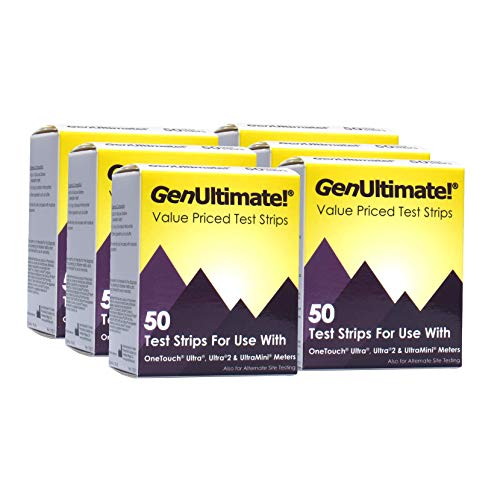 GenUltimate! 50ct 6-Pack - 300 Test Strips for OneTouch Ultra Ultra2 & UltraMini Meters