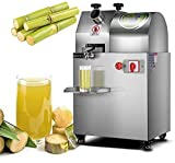 Mantontech Commercial Electric Slow Masticating Sugarcane Juicer Machine with Feed Chute Tray, Sugar Cane Squeezer Makes High Nutritive Fruit&Sugarcane juice - Adjustable Nut ,ON/OFF Switch for Easy to Use