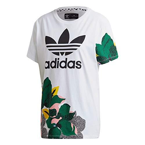 adidas BF Tee T-Shirt (Short Sleeve), Donna, Donna, T-Shirt (Manica Corta, GE4315, Bianco, 42