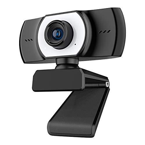 ieGeek PC Webcam con Micrófono, Cámara Web Full HD 1080P USB...